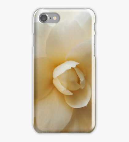 White Camellia Flower Detail iPhone Case/Skin