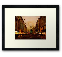 A nostalgic photo of Oxford Street Framed Print