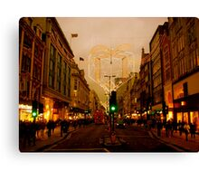 A nostalgic photo of Oxford Street Canvas Print