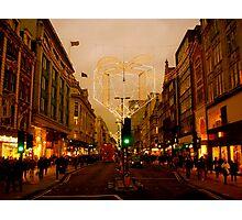 A nostalgic photo of Oxford Street Photographic Print