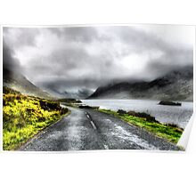 Mist over Connermara Mountains- Ireland Poster