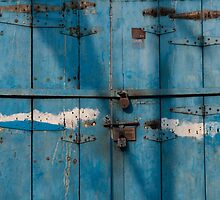Blue door, Cochin by Syd Winer