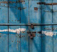 Blue door, Cochin by Syd Winer