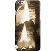 Flames in black and white iPhone Case/Skin