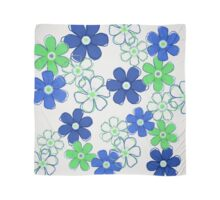 Blue and Green Floral Design Scarf
