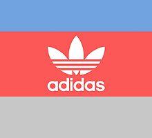 Adidas - Grey Red Blue  by madeoflightingg
