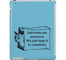 Introverts Are Awesome Cat in a Bag! iPad Case/Skin