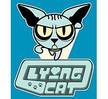 Lying Cat Powerpuff Photographic Print