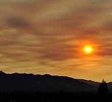 Smokey Desert Sunset by Eleu Tabares