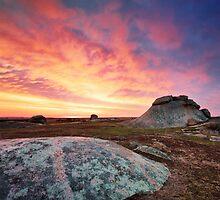 Sunset at Dog Rocks by Danka Dear