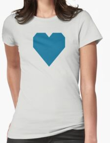 Sea Blue Womens Fitted T-Shirt