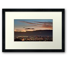 Brisbane Skyline at Dawn Framed Print