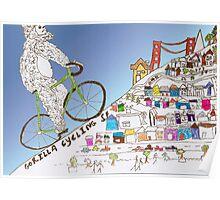gorilla cycling ... Poster