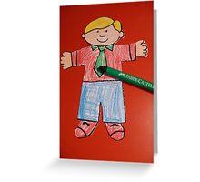 Flat Stanley Greeting Card