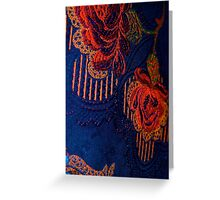 Fabric Abstract Greeting Card