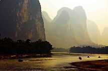 Boats At The River Li Bend by phil decocco