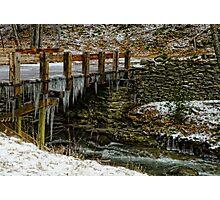 Icy Stream Crossing Photographic Print