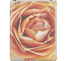 peach rose, dramatic bloom iPad Case/Skin