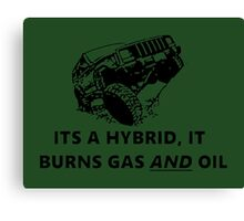 oil burning jeep hybrid Canvas Print