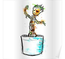 Water Colour Groot Poster