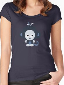 Cute Baby Blue Monkey Women's Fitted Scoop T-Shirt