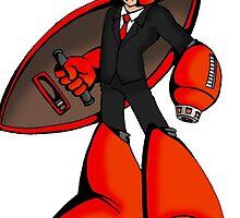 Protoman in a black tux  by kaikirito
