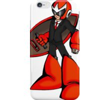 Protoman in a black tux  iPhone Case/Skin