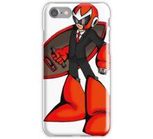 Protoman in a black tux  iPhone Case/Skin