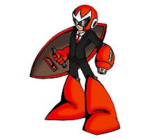 Protoman in a black tux  Photographic Print
