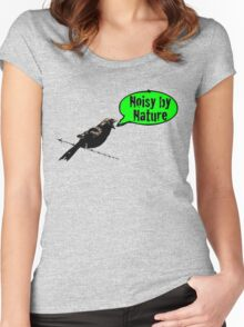 NoisyByNature Green Women's Fitted Scoop T-Shirt