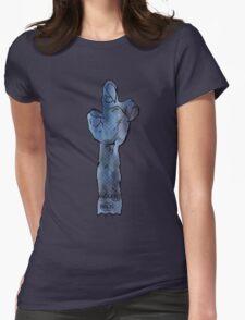 yoda hand star wars tshirt by ian rogers Womens Fitted T-Shirt