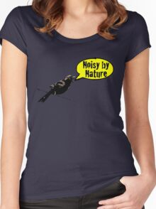 NoisyByNature Yellow Women's Fitted Scoop T-Shirt