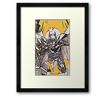 Batman Black & White Sketch Framed Print