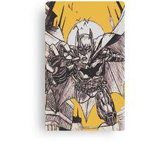 Batman Black & White Sketch Canvas Print