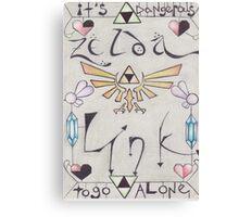 Link ♥ Zelda Canvas Print