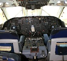 Vickers VC10 airliner Cockpit by Chris L Smith