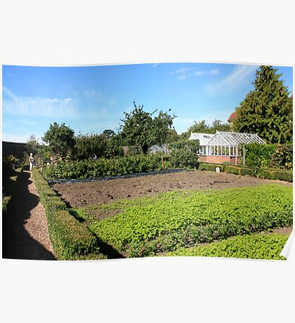 English Walled Garden Poster