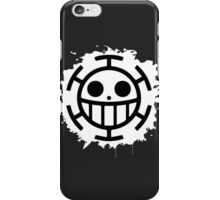 Heart Pirates Jolly Roger - White iPhone Case/Skin