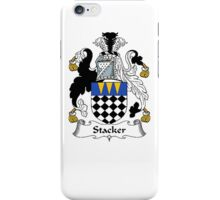 Coat of arms (family crest) for last-name or surname Stacker . Heraldry banner for your name. iPhone Case/Skin
