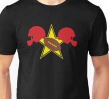 American football Grid Iron helmets and visors with STAR Unisex T-Shirt