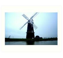 Windmill on the Norfolk Broads Art Print