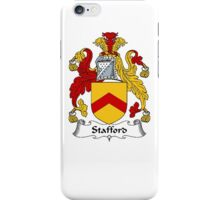 Coat of arms (family crest) for last-name or surname Stafford . Heraldry banner for your name. iPhone Case/Skin