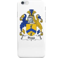 Coat of arms (family crest) for last-name or surname Stagg . Heraldry banner for your name. iPhone Case/Skin