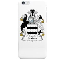Coat of arms (family crest) for last-name or surname Staines . Heraldry banner for your name. iPhone Case/Skin