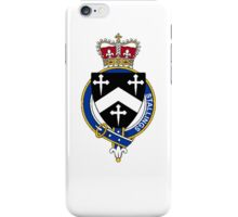 Coat of arms (family crest) for last-name or surname Stallings (England) . Heraldry banner for your name. iPhone Case/Skin