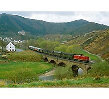Historical train in the Ahr Valley, Germany, 1980s Photographic Print