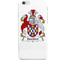 Coat of arms (family crest) for last-name or surname Stamford or Stanford . Heraldry banner for your name. iPhone Case/Skin