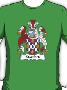 Coat of arms (family crest) for last-name or surname Stamford or Stanford . Heraldry banner for your name. T-Shirt