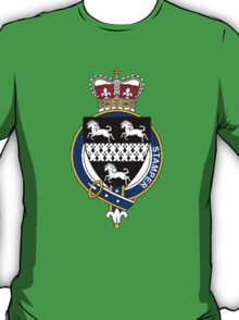 Coat of arms (family crest) for last-name or surname Stamper (England) . Heraldry banner for your name. T-Shirt