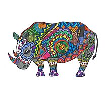 Bright Beautiful Rhinoceros Photographic Print